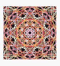 Pink, Orange, and Black Mandala Photographic Print