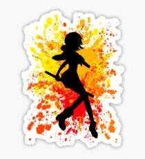 Nami Paint Splatter Anime Inspired Shirt Sticker