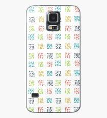 Dashing Multi-Color-Quadrat klein Hülle & Klebefolie für Samsung Galaxy