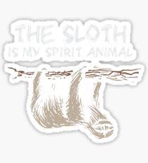The Sloth Is My Spirit Animal Shirt Sticker