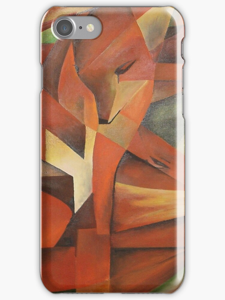 Foxes - Homage to Franz Marc (1913)     by taiche