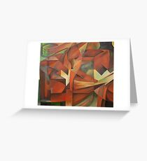 Foxes - Homage to Franz Marc (1913)     Greeting Card