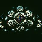 Very old glass 1243-1248 St Chapelle Paris 19840818 0008  by Fred Mitchell