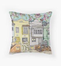 San Francisco Houses #3 Throw Pillow