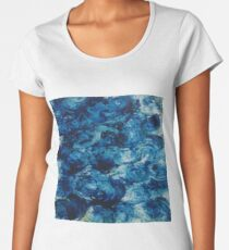 blue flowers Women's Premium T-Shirt