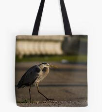 Why did the Heron cross the road? Tote Bag