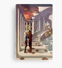 Kiss by the Colonnades Metal Print