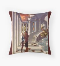 Kiss by the Colonnades Throw Pillow
