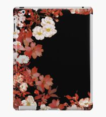 Flower Border On Black  iPad Case/Skin