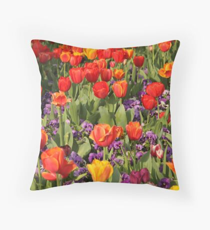Jewel Tones of Spring Throw Pillow
