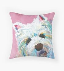 West highland terrier love Throw Pillow