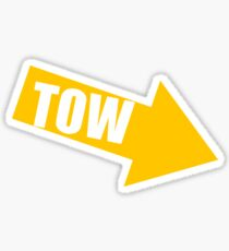 Tow yellow Sticker