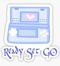 Ready set go play Sticker