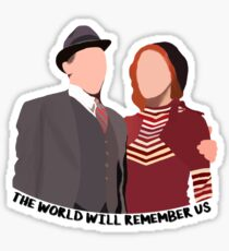 The World Will Remember Us - Bonnie and Clyde Sticker