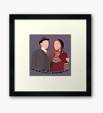 The World Will Remember Us - Bonnie and Clyde Framed Print
