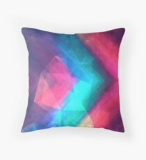 Textured Polygons Throw Pillow