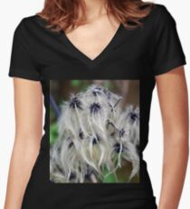 Hairy Seeds............. Women's Fitted V-Neck T-Shirt