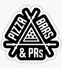 Pizza, Bars and PRs Fitness Triangle Sticker
