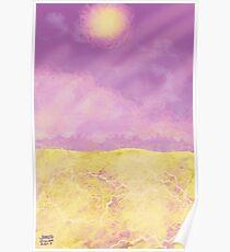 Amethyst Desert Poster