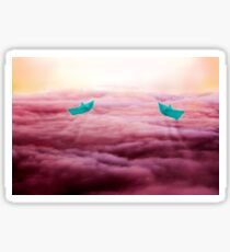 Sailing into the sunset  Sticker