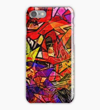 Stained Glass Graffiti iPhone Case/Skin