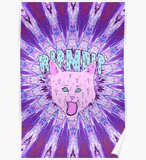 RIPNDIP Trippy Cat Poster