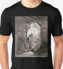 Bible New Testament Gustave Dore or Doré Jesus talks with Mary and Martha in their house Unisex T-Shirt
