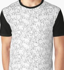 Cats hand drawn pattern.  Graphic T-Shirt