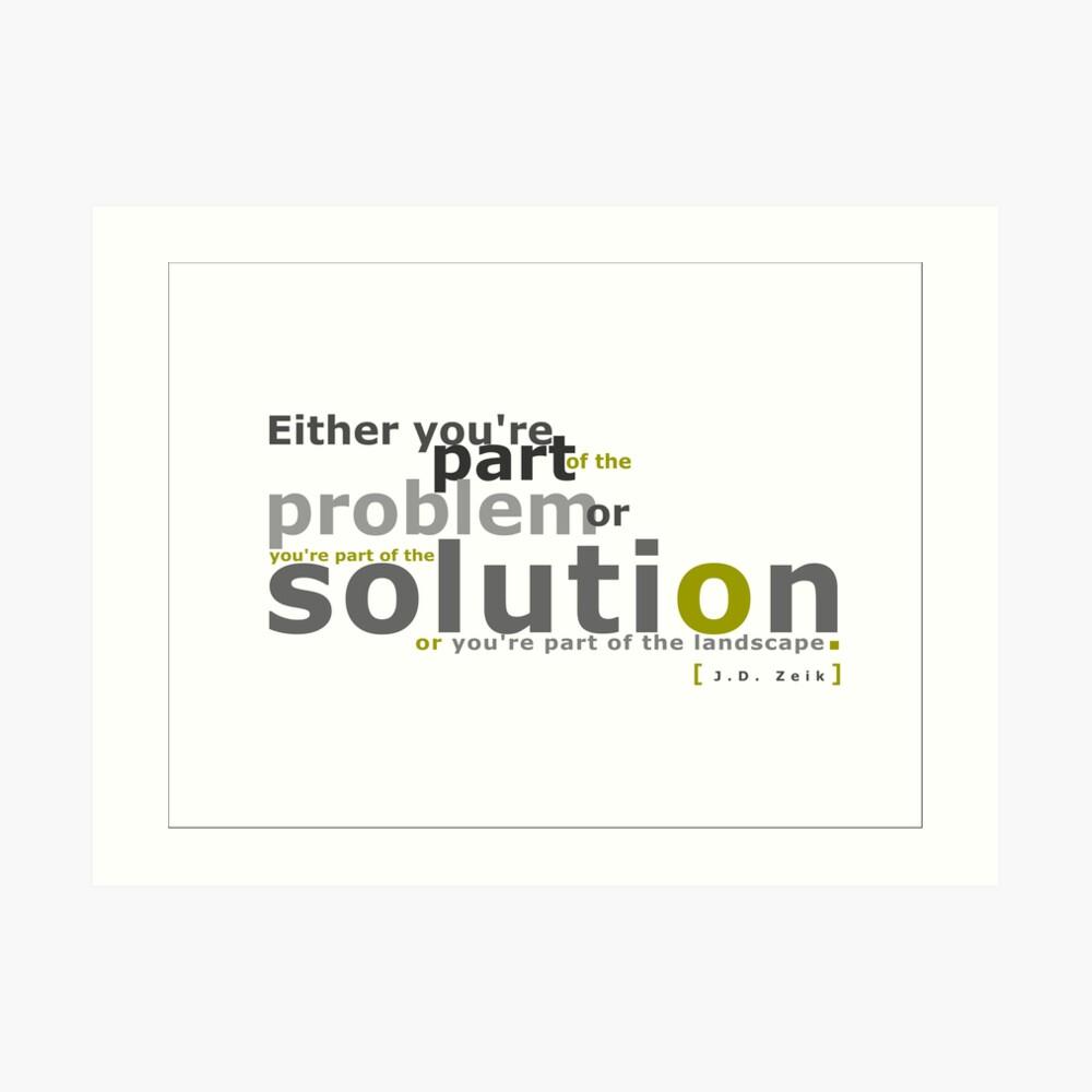 Solution Art Print