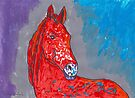 Red White Horse  by Juhan Rodrik
