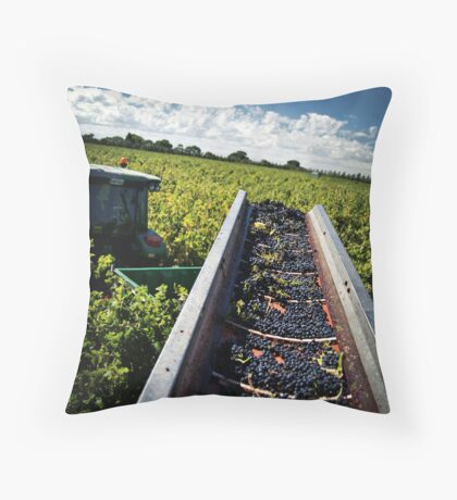 The Last Row of Harvest Throw Pillow