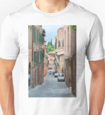 Walkway on in old town in Europe Unisex T-Shirt