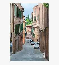 Walkway on in old town in Europe Photographic Print