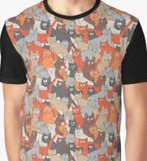 One hundred cats. Pattern Graphic T-Shirt