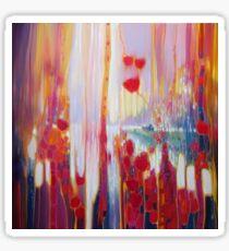 Distant Memory - a semi abstract landscape Sticker