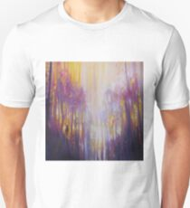 Fabian Waits - semi abstract landscape in yellow and purple Unisex T-Shirt
