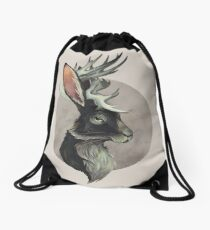 Jackalope Drawstring Bag