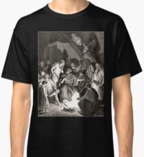 Bible New Testament Gustave Dore or Doré Peter denies that he is one of Jesus's Disciples Classic T-Shirt