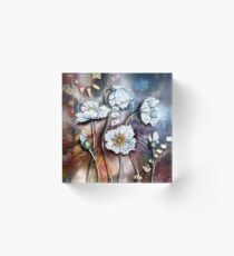 White Poppies (Finding Beauty in Chaos Series) Acrylic Block