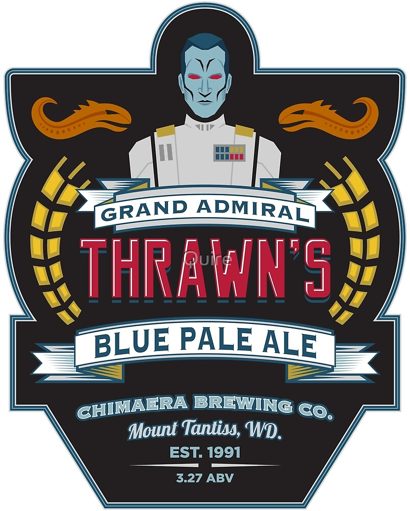 Grand Admiral Thrawn's Blue Pale Ale by Quire