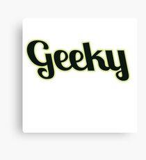 Geeky Canvas Print