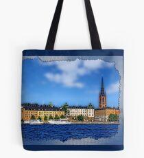 Riddarholmen islet, Stockholm, Sweden Tote Bag
