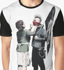 Banksy - Mother and Son Graphic T-Shirt