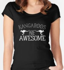 Kangaroos are awesome Women's Fitted Scoop T-Shirt