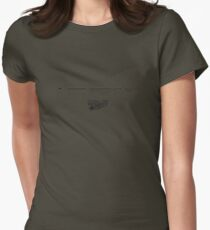 Lockheed TriStar 200 Line Drawing Womens Fitted T-Shirt