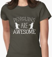 Penguins are awesome Womens Fitted T-Shirt