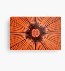 Orange Purple Flora Metal Print