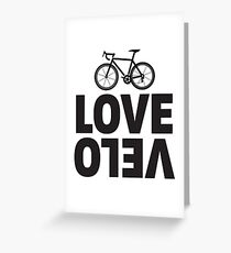 Love Velo - Cycling Design  Greeting Card