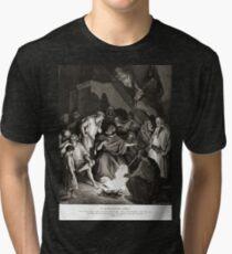 Bible New Testament Gustave Dore or Doré St Peter Denying Christ Tri-blend T-Shirt