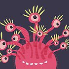 Funny Pink Monster With Eleven Eyes by Boriana Giormova
